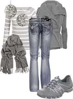 A Perfect gray outfit! Maybe boots instead of those shoes...