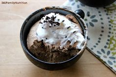 360 Family Nutrition: Chocolate Angel Food Mug Cake