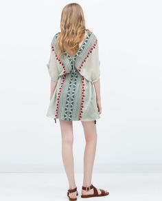 ZARA - SALE - EMBROIDERED TUNIC