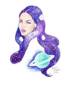 Lana Del Rey 'Love' fan art by Jesus Diego #LDR [ok this is my fav!]