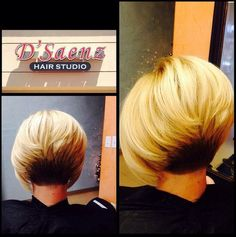 Blonde Short Bob Haircut - Blonde with Black Underneath Hair Ideas