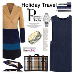 """""""Holiday Travel"""" by mycherryblossom ❤ liked on Polyvore featuring Christian Dior, Estée Lauder, Calvin Klein and Burberry"""