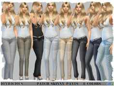 The Sims Resource: Patch Skinny Pants by Devilicious • Sims 4 Downloads