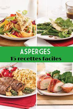 On adore les asperges! Mettez-les au menu avec l'une de nos 15 recettes faciles. Bacon, Menu, Mexican, Ethnic Recipes, Food, Chicken Asparagus, Easy Food Recipes, Suppers, Dish