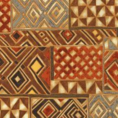 from African Beat: Robert Kaufman Fabric Company Aztec Fabric, African Quilts, Robert Kaufman, Joann Fabrics, African Art, Fabric Patterns, Fabric Design, Ethnic, Cotton Fabric