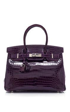 HERITAGE AUCTIONS SPECIAL COLLECTIONS 30Cm Amethyst Porosus Crocodile Birkin