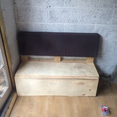 Knocked up the first of the seating. This has some space under it to hide my tools once I'm finished.
