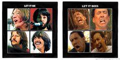The Beatles John Lennon Paul McCartney George Harrison #ringostarr Let it Be / Wicker Man Nicolas Cage Vinyl Record Album Mash Up Parody Art Print #mashup #photoshop #parody   #albumcover #album #cover #lp #record #vinyl #scifi #nerd #music #movie #geek #etsy #horror #halloween #funny #nicolascage #niccage #wickerman #thebees #bees #cage #thewickerman #thebeatles #letitbe #johnlennon #paulmccartney #georgeharrison #ringostarr