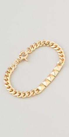 <3 this Noir Jewelry Pyramid ID bracelet  $78