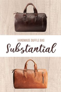 e3846f04cb9f03 Substantial Duffle Bag · Dark Brown. Substantial Duffle bag made by Capra  Leather.