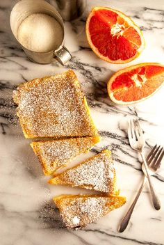 Tart grapefruit and a buttery vegan shortbread crust are the perfect combination for an easy winter dessert! Vegan Shortbread, Shortbread Crust, Grapefruit Tart, Vegan Baking, Vegan Food, Vegan Dishes, Paleo, Vegan Dessert Recipes, Vegetarian Recipes