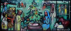 First Christmas Tree originated in Germany. The 8th century English missionary, St. Boniface, Apostle to Germany, is supposed to have held up the evergreen as a symbol of the everlasting Christ http://www.firstchristmastree.com/#