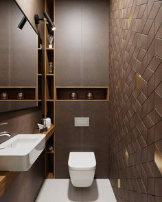 Upgrade Your House With Modern & Minimalist Bathroom Design Ideas That Will Impress Your Guest - SnapShot Magazine Bathroom Design Luxury, Bathroom Layout, Modern Bathroom Design, Bathroom Ideas, Modern Lighting Design, Bathroom Photos, Bathroom Vanities, Small Toilet Room, Small Bathroom