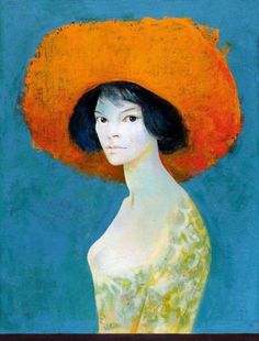 Self-Portrait with Red Hat (1968) by Leonor Fini (1907–1996), Argentine Surrealist painter