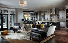 Contemporary Living Room Interior Design Ideas - Houzz - Home Design, Decorating and Remodeling Ideas and Inspiration, Kitchen and Bathroom Design Room Design, Interior Design, Couches Living Room, Home, Interior, Living Room Grey, Home Decor, Living Design, Transitional Living Room Design