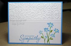 Simple CB Misted Sympathy Card using Stampin Up Close as a Memory