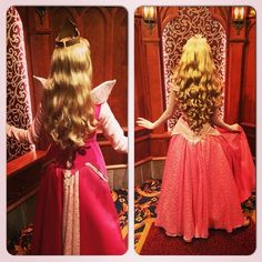 Aurora's hair before and after