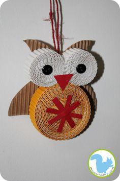 cardboard owl...Grandma Brown would have loved this!