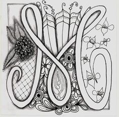 zentangle m | Alpha bet soup : The Letter M | Doodle Zentangle 2