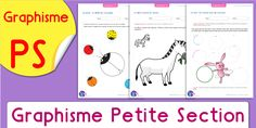 pdf-graphisme-maternelle-petite-section-ps-a-imprimer French Course, Sewing Spaces, Busy Bags, Primary School, Preschool, Teaching, Activities, Writing, Books