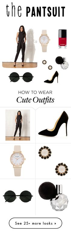 """""""CUTE PANTSUIT OUTFIT: nice date night outfit"""" by omgitsmariahh on Polyvore featuring Cameo, Givenchy, Chanel and thepantsuit"""