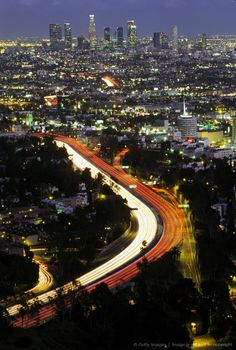 Los Angeles soon after sunset. California