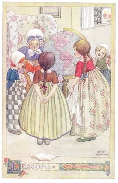 Anne Anderson. Lessons - The Rosie-Posie Book, 1911
