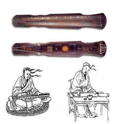 A Guqin illustration