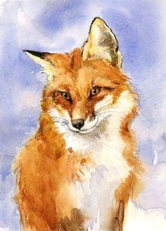 Fox #watercolorarts