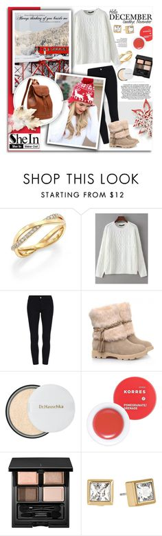 """Hello December..SheIn"" by melissa-de-souza ❤ liked on Polyvore featuring De Beers, Dr.Hauschka, Korres, SUQQU, Michael Kors, Sheinside and polyvoreeditorial"