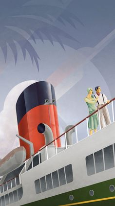 Art Deco style illustration by Stephen Fuller.  http://www.dailyinspiration.nl/art-deco-napier-new-zealand/