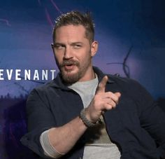 "Tom Hardy being interviewed on ""The Revenant"""