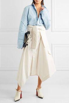Marni - Asymmetric Wrap-effect Cotton Midi Skirt - Off-white - IT
