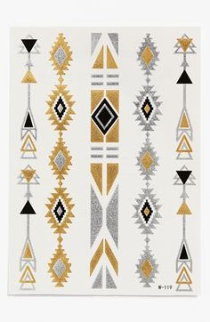 Cara 'Aztec 2' Temporary Tattoos available at #Nordstrom