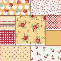 Sew Cherry by Lori Holt...quilt block idea