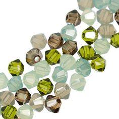 5328 3mm Swarovski Elements Crystal Mix - Minty   Fusion Beads
