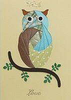 Owl Iris Fold Card