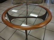 lane round glass coffee table | ... CARVED Spanish Style COFFEE TABLE & End Table by LANE Mid Century
