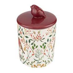 Sainsbury's Home Christmas Spice Print Ceramic Candle With Lid | Sainsbury's Sainsburys Home, Fresh Food Delivery, Spices, Jar, Candles, Ceramics, Christmas, Home Decor, Ceramica