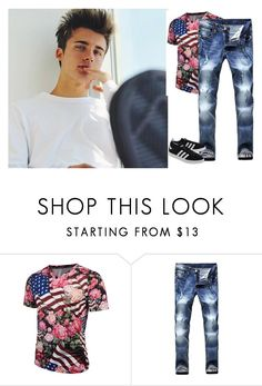 """""""first group date"""" by strange-fruit ❤ liked on Polyvore featuring adidas Originals, men's fashion and menswear"""