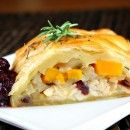 Turkey- Cranberry Strudel | RecipeGirl.com what a nice alternative for thanksgiving left overs than the usual sandwich!