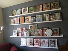 love this picture display for downstairs