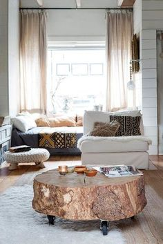 Coffee table alternatives Furniture Interior Trends For 2017 Splendid Ambience Wood Stump Coffee Table La Mode Design 23 Best Coffee Table Alternatives Images Refurbished Furniture Deco Design, Home And Living, Small Living, Living Rooms, Home Projects, Family Room, Sweet Home, Room Decor, House Design
