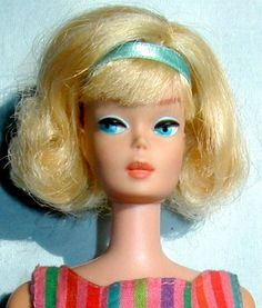Suz is headed to the beach.  Krista's Doll Restoration  Side Part American Girl Barbie