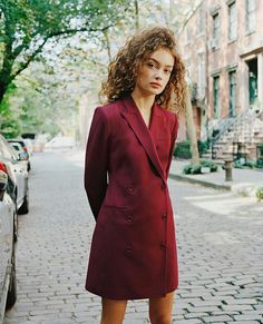 Sasha Kichigina Good Wool: 4 Suiting Styles from Theory Sasha Kichigina, Ethical Fashion, Fashion Brands, Wool Shop, Eco Friendly Fashion, Blazer Dress, Girl Fashion, Fashion Design, Dress Fashion