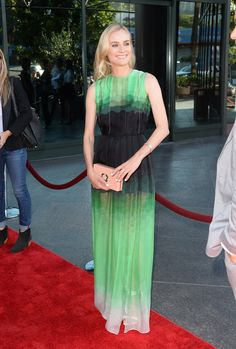 Diane Kruger wears Jonathan Saunders resort 2014 to FX's The Bridge premiere