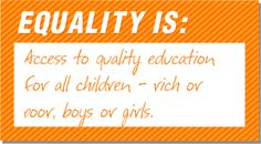 This is what #EqualityIs to me. What does it mean to you?