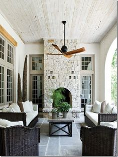 front porch fireplace!