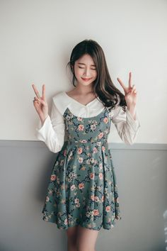 38 New Ideas Moda Coreana Korean Style Outfits Cute Fashion, Look Fashion, Trendy Fashion, Girl Fashion, Romantic Style Fashion, Fashion Women, Fashion Black, Vintage Fashion, Style Outfits