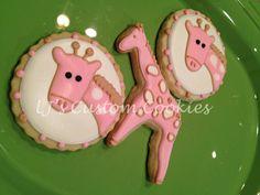 LJ's Custom Cookies: Baby Giraffes